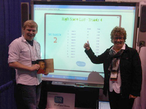 "<p>Sean Carpenter of Hartwick College in New York, tested his skills on our toughest <a href=""http://breezinthrutheory.com/try-it/"">Breezin' Thru Theory game</a> – Triads. Not only did he make it up all 4 levels but he posted the 2nd best score ever. He was second only to the Author, Jean McKen!</p>"